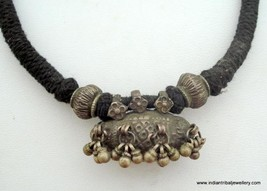 Ethnic Tribal Old Silver Pendant Necklace Gypsy - $108.90