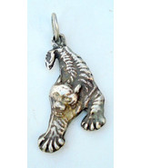 VINTAGE ANTIQUE TRIBAL OLD SILVER DRAGON PENDANT INDIA - $137.61