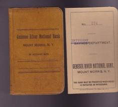 Green River National Bank Mount Morris NY Savings Books 1910s/1920s - $14.00