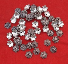 ETHNIC STERLING SILVER CAPS BEADS CHARM LOT RAJASTHAN - $216.81