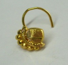 18k traditional design gold nose stud ECL nosepin rajasthan india - $119.79