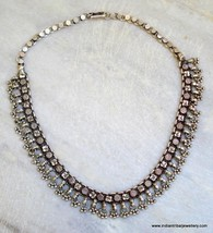 vintage antique tribal old silver choker necklace handm - $276.21