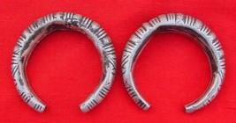 Rare Antique Tribal Old Silver Bracelet / Bangle Pair - $276.21