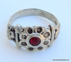 VINTAGE ANTIQUE TRIBAL OLD SILVER RING RAJASTHAN INDIA - $67.32