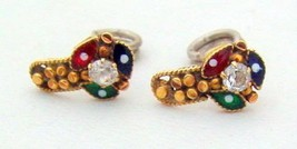 Antique Collectible Tribal Old Gold Earrings Stud India - $232.65