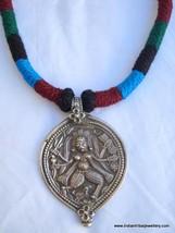 tribal antique vintage old silver necklace god shiva amulet pendant hindu - $137.61