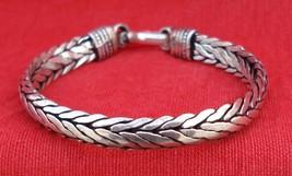 Traditional Design Handmade Silver Cuff Bracelet Bangle - $108.90