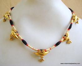 20k vintage antique tribal old gold pendant necklace choker bellydance jewelry - $1,731.51