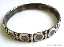 vintage antique ethnic tribal old silver cuff bracelet bangle rajasthan ... - $226.71