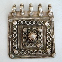 VINTAGE ANTIQUE TRIBAL OLD SILVER PENDANT GYPSY GOTHIC - $162.36