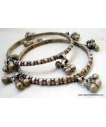 vintage antique old silver bangle bracelet set gypsy hippie indian - $216.81