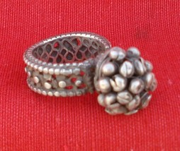 Vintage Antique Tribal Old Silver Ring Rajasthan Gypsy - $94.05