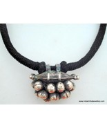 ANCIENT ANTIQUE TRIBAL OLD SILVER PENDANT NECKLACE INDI - $137.61