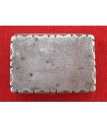 ANCIENT ANTIQUE COLLECTIBLE OLD SILVER HINGE BOX INDIA - $118.80