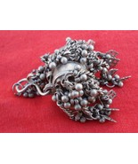 TRIBAL OLD SILVER BOX PENDANT RAJASTHAN BELLY DANCE - $315.81