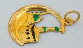20 Ct Gold Amulet Pendant Mosk Mosque Masjid From India - $296.01