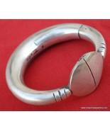 old silver bangle bracelet antique tribal belly dance - $345.51