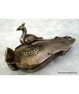 rare ancient old silver box chopra peacock temple tika - $197.01