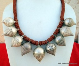 Ethnic Tribal Old Silver Pendant Necklace Belly Dance - $474.21