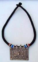 BELLYDANCE ETHNIC OLD SILVER THREAD NECKLACE INDIA - $197.01
