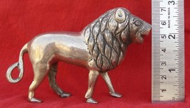 Antique Silver Lion Figure From Rajasthan India - $331.65
