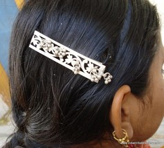 Antique Tribal Old Silver Hairpin Clip Hair Ornament - $108.90