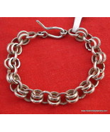 ethnic old silver cuff bracelet bangle rajasthan india handmade jewellery - $108.90