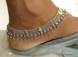 old silver jewelry anklet feet bracelet vintage antique tribal bellydanc... - $394.02