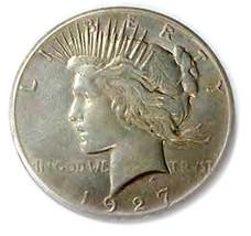 U.S. PEACE DOLLAR 1927 REPLICA MEDAL 27 G - $5.90