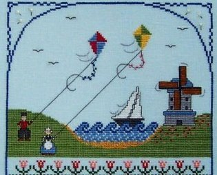 Dancing With The Wind cross stitch chart The Needle's Notion