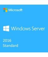 Windows Server 2016 Standard Version Full Retail   OFFICIAL   Lifetime E... - $29.99