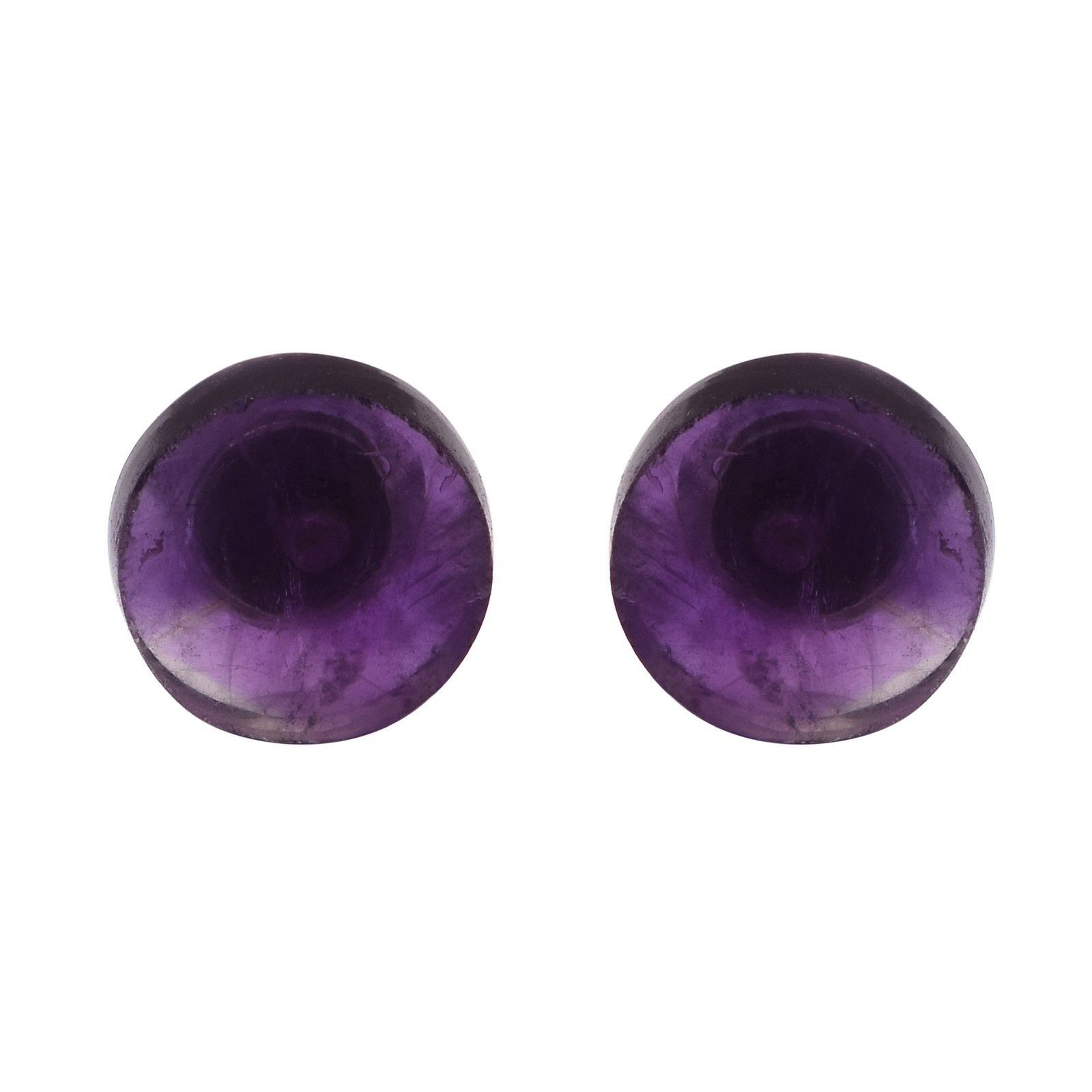 Three Pair Combo Stud Earring Set For Women 925 Sterling Silver Amethyst & Onyx