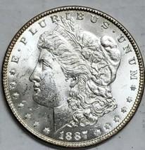 1887 $1 Morgan Silver Dollar Coin Lot # E 116