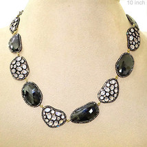 Spinel Sterling Silver Pave Diamond Moonstone Necklace 14k Gold Jewelry ... - $2,317.80