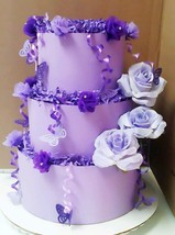 Lavender and Lilac Purple Butterfly Themed Baby Girl 3 Tier Diaper Cake ... - $65.00