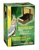 Birdbath Living World Cockatiel Bird Bath Brown... - $18.76