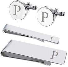 BodyJ4You 4PC Cufflinks Tie Bar Money Clip Button Shirt Personalized In... - $37.92