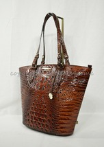 NWT Brahmin Medium Bowie Leather Tote/Shoulder Bag in Pecan Melbourne - $289.00