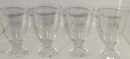 "Anchor Hocking Boopie Clear Water Glass Drinking  5 1/2"" Vintage Lot of 4 - $69.95"