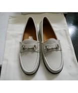 NIB 100% AUTH Gucci Kids Horsebit Loafer in Mystic White leather 257810 - $148.00