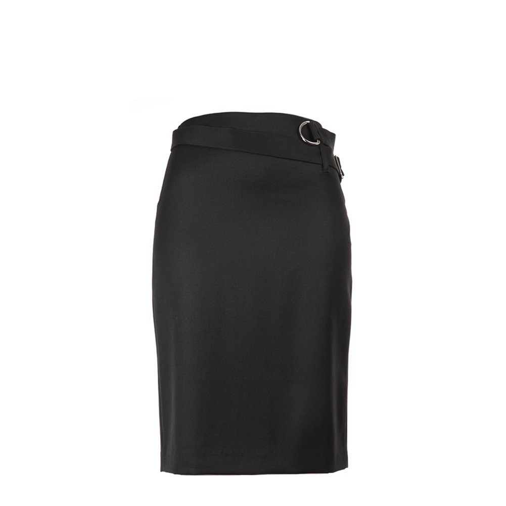3.1 Phillip Lim Pencil Skirt With Utility Strap F215-3992WGB Black SZ 2