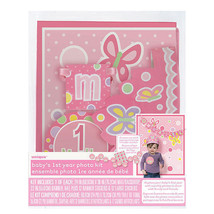 Baby's 1st Year Photo Props Kit Personalize shower gift Age Sticker Girl - $6.26