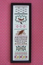 Brownbird Sampler cross stitch chart The Needle's Notion  - $7.00