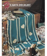 Hearts Delight, Annie's Crochet Afghan & Quilt Pattern Club Leaflet 12-1-02 - $2.95