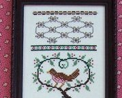 Brownbird Sampler cross stitch chart The Needle's Notion