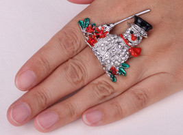 Snowman Stretch Ring Holiday Christmas Gifts For Women Girls Cute Fashion - $9.99
