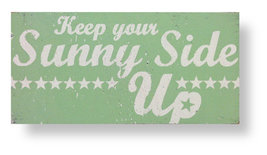 (#4455) Rustic Wooden Sign 'Keep Your Sunny Sid... - $40.95
