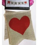 """Valentines Day Heart Jute LOVE Banner Garland Decoration 59"""" - $13.50"""