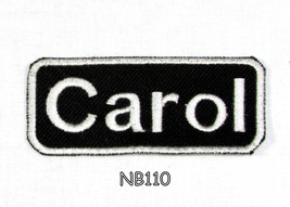 Carol White on Black Iron on Name Badge Patch f... - $5.99