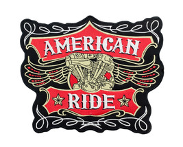 LARGE BACK PATCH AMERICAN RIDE PATCH FOR BIKER ... - $19.99